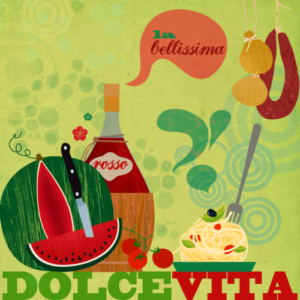 la dolce vita graphic